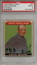 1933 Sport King Football Card #35 Knute Rockne-Notre Dame