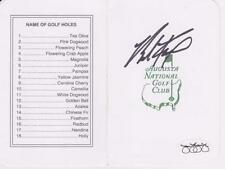 BRAD FAXON Signed  Augusta National Scorecard JSA
