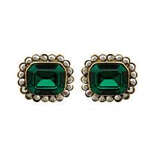 Butler & Wilson Stud Stone Costume Earrings
