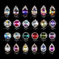 10pcs Nail Sticker gems Manicure Decor Nail Art Rhinestones Stones Glitter Pearl