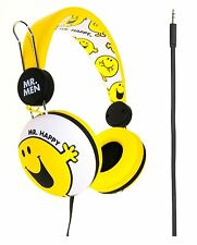 MR. MEN * MR. HAPPY Stereo Headphones for iPod, MP3, Nintendo, Laptops etc NEW