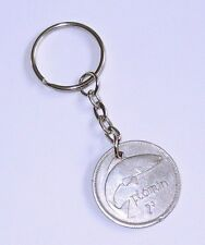 1959 Irish 2 Shillings Florin  Keyring  Birthday Horse Anniversary Salmon