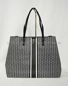 NWT Tory Burch Gemini Link Tote With Side Snaps in Black MSRP $298