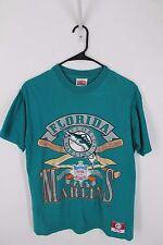 Vintage 90s Florida Marlins MLB Graphic T Shirt Nutmeg Sz M MADE IN USA