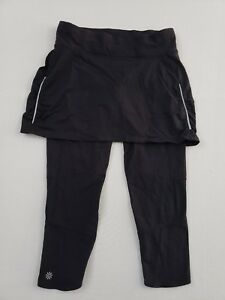 Athleta Black Skirt Legging Skort Combo Black Small