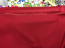 """100% Pure Wool Suiting Skirt Coat Fabric Made In England Red 60"""" Wide £32.99/mtr"""