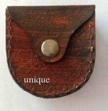 Beautiful Leather Case Designer Nautical Collectible Mini Case Vintage Item