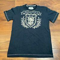 VINTAGE Jack's Sport Mens T Shirt Medium Black Logo Spell Out Graphic Tee