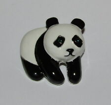 Panda Bear Pin New Black White Wildlife Crystal Eyes Jewelry