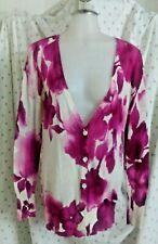 Ann Taylor Loft Womens Button Down Cardigan Sweater Medium Linen