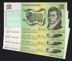 Australia R-86c. (1976) Knight/Wheeler - Two Dollars. CONSEC Run of 4.. aU-UNC