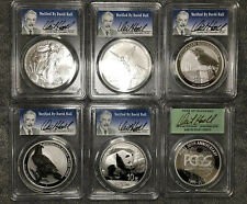 VERY RARE 2016 DAVID HALL SIGNED 6 COIN SET!!! VERY LOW POP!!!! ALL MS-70!!!