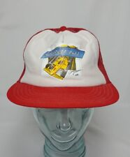 VINTAGE SNAP-ON TOOLS RICK MEARS, RED TRUCKER HAT MESH SNAPBACK INDY 80s