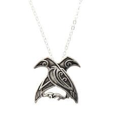 Vintage Vikings Odin's Ravens Pendant Necklace Chain Decor Unisex  Jewelry Gift