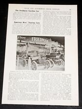 "1903 OLD MAGAZINE ARTICLE, ""THE FREiDMAN GASOLINE CAR"", 2 CYL. FRICTION DRIVE!"