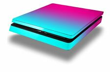 Skin for PS4 Slim Smooth Fades Neon Teal Hot Pink Playstation 4 Console