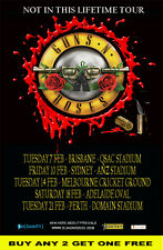 GUNS N ROSES Not In This Lifetime  2017 Australian  Laminated  Tour Poster