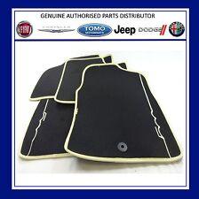 NUOVI ORIGINALI FIAT 500 Set Tappetini Pavimento di 4 NERO + AVORIO EDGE 71803949