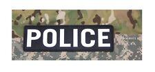 "Morale Patch Milspec Monkey MSM - POLICE - 10 "" x 3 "" SWAT PVC - NEW for 2017"