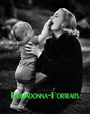 CAROLE LOMBARD 8x10 Lab Photo 1930s Toddler Sweetheart Portrait