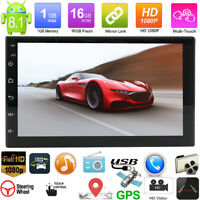 2Din 7in Autoradio 8.1 GPS Stereo MP5 Player Navigation WiFi   Bluetooth USB FM