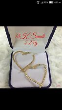 Gold Authentic 18k gold heart loop earrings, vri