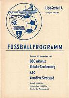 DDR-Liga 87/88 ASG Vorwärts Stralsund - Aktivist Brieske/Senftenberg, 27.09.1987