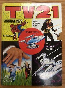 TV21 Annual 1972, Star Trek, Spiderman, Silver Surfer (Unclipped)