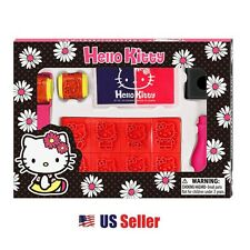 Sanrio Hello Kitty 40pcs Assorted Rubber Stamp Kit Set Stamper : Daisy