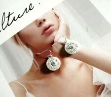 tone drop hoop dangle Earrings Premier Designs Jewelry Endearing Silver