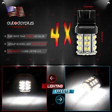 4X White 7443 Backup Reverse LED Light Bulbs 64-SMD 7440 7444 7441 992 992A W21W