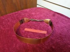 Statement Vintage Renoir Style Solid Copper Chain Belt 1950s