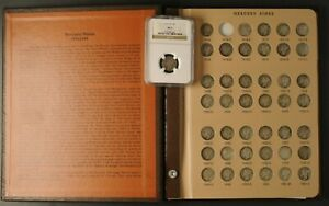 Mercury Dimes Complete Set 1916-1945 77 Coins Dansco Album 1916-D Slab Included