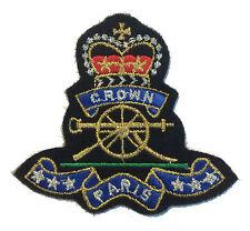 Paris Patch Felt Crest Badge with Crown IRON ON APPLIQUE