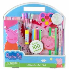 Peppa Pig Ultimate Art Set School Water Color Paints Notepad Stickers Stationery