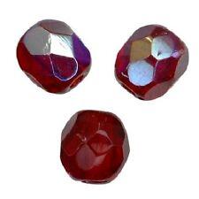 5 Perles Facettes cristal de boheme 10mm - RUBY AB