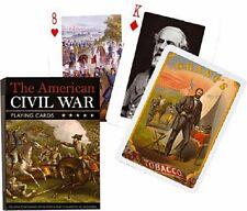 The American Civil War set of 52 playing cards + jokers (gib)