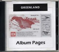 Greenland - CD-Rom Stamp Album 1935-2017 Color Illustrated Album Pages