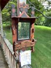 Antique Tramp Folk Art Shaving Mirror and Shelf