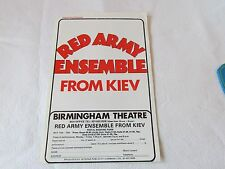 RED Army Ensemble from KIEV Russia c 1970's Original BIRMINGHAM Theatre Flyer
