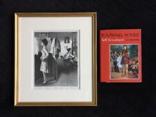 RAPHAEL SOYER IN THE STUDIO SIGNED LITHOGRAPH + SOYER'S BOOK SELF-REVEALMENT