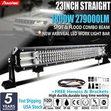 Quad-Row 1800W 23Inch LED Light Bar Flood Spot For Chevrolet Ram 1500 22'' 20''