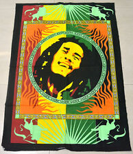 Wall Hanging Cotton Indian Art Bob Marley Poster Dorm Decor Beach-Throw Tapestry