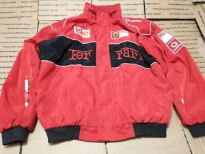 FERRARI Mens Rare Vintage Red VODAPHONE SHELL SPELL OUT F1 RACE Jacket XXL NICE!