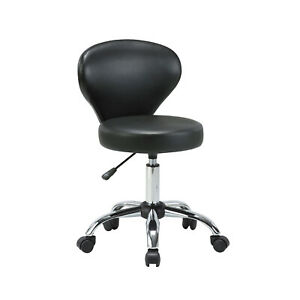 Rolling Swivel Salon Stool Chair Backrest Adjustable Spa Nail Pedicure Massage