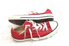 Converse Chuck Taylor All Star Red Canvas Athletic Sneakers Shoes Sz 6 MEN 8 WNM