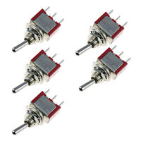 5 x On/Off/On Momentary Mini Toggle Switch Car Motor Dash Dash SPDT 3Pin Sales
