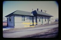 1973 GM&O Gulf Mobile & Ohio Depot at Chatham, Illinois, Original Slide c7b