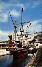 Schiffe Echtfoto-AK Schiffsfoto ~1960/70 Golden Hind Galleon AK USA postcard