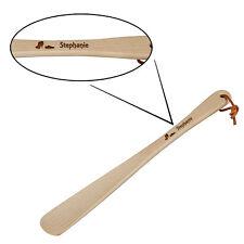 Calzador madera de haya engrasada 37 cm incl. Grabado motivo schuhpärchen